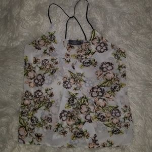 Like mynded tank with floral design🌸